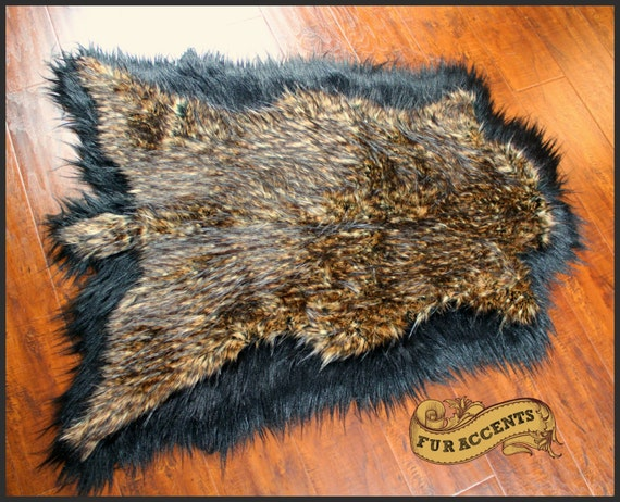 Fur accents deer hide pelt rug faux fur by furaccents on etsy - Faux animal skin rugs ...