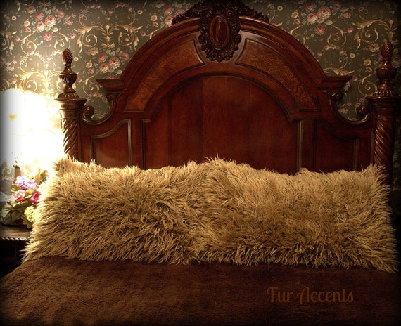 Fur Accents One Pair Of Pillow Shams Camel By Furaccents