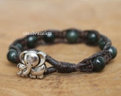 Best Mom, Elephant gift idea, Jade Jewelry, Mothers Day, Birthday gift, Natural gemstone, Thank you gift, Gift idea - Dark Brown