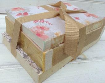 Bare Book Bundle, Vintage Upcycled Home Decor, Shabby Chic, Wedding Decor, Photo Prop (B010.2)