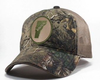 Homeland Tees Vermont Home State Realtree Camo Trucker Hat