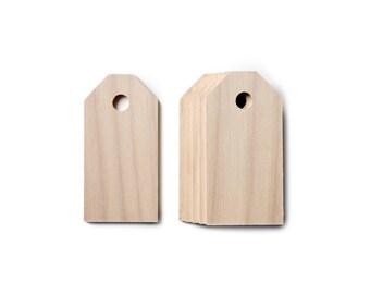 Etiquettes - Bois brut - Fourniture bricolage & DIY - Lot de 6 en bois exotique clair