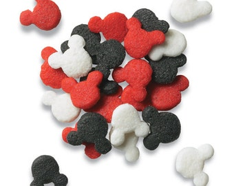 Mickey Mouse Sprinkles Quins Edible Cupcake Decorations (4 ounces)