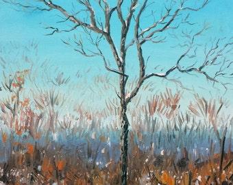 "Vibrant Winter, Oil on 16x20"" canvas, by Sean Bodley - Plein Air Oil Landscape Painting - Lemont Painting - Pennsylvania Painting"