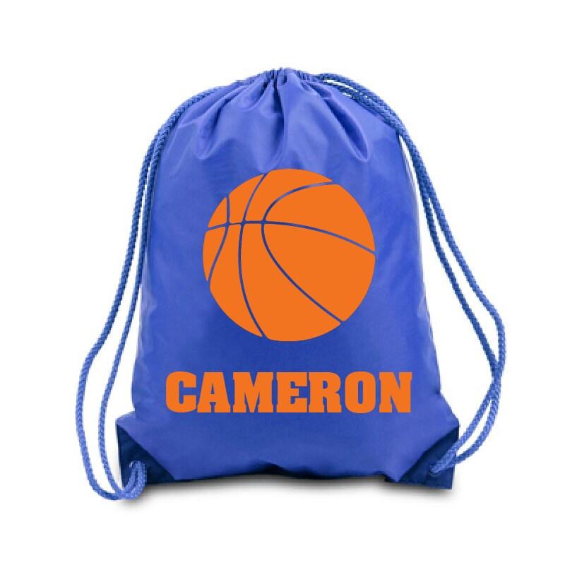 Swim Lesson Bag: Personalized Drawstring Bag Basketball Nylon Drawstring