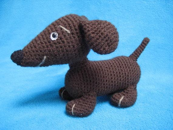 Amigurumi Hot Dog : Wiener Dog Dachshund Hot Dog Amigurumi Crochet Pattern PDF ...