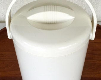 Vintage White Lillo Ice Bucket - Made in Italy