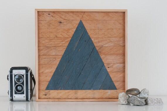 "12""x12"" ""Triangle"" Stark & Steel Series #231 || Modern Reclaimed Artworks"