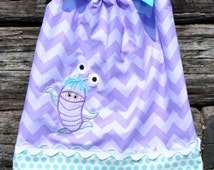 Custom Monsters Inc Boo Girl Pillowcase Dress.  Sizes 6m - 8y.  By Hoot n Hollar Childrens Clothing