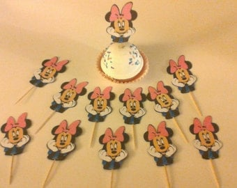 Minnie Mouse cup cake topper