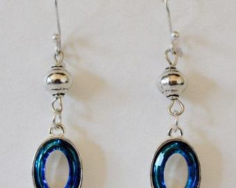 Bermuda Blue Swarovski Crystal Earrings