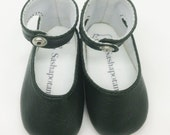 "Granite Leather ankle-strap shoes for 16"" Sasha dolls"