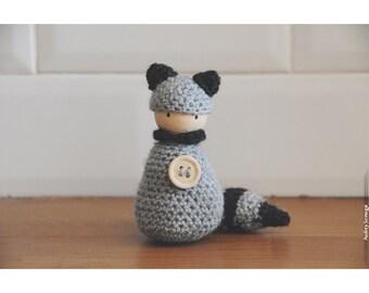 Bonhanimaux, raccoon crochet amigurumi