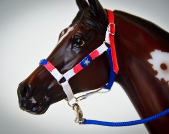 Captain America Model Horse Halter (1:9 Scale)