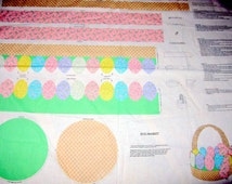 Cut and Sew Panel Fabric Easter Basket Pattern Easy to Sew DIY Project