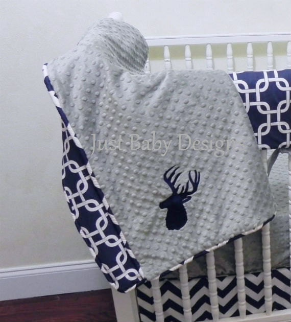 Custom Baby Crib Bedding Set Henley Deer Baby Bedding Boy