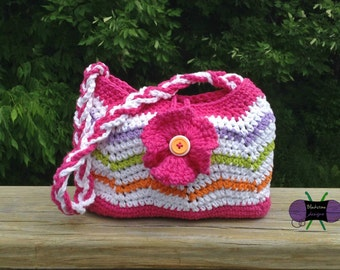 Rolling Waves Purse - PDF pattern ONLY - Summer, Beach, Ocean, Travel, Bag, Purse, Chevron, Flower