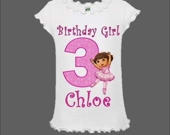Dora the Explorer Birthday Shirt - Dora Ballerina Shirt