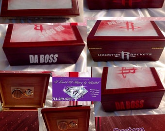 Custom humidor cigar box