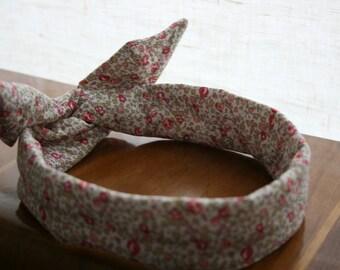 Headband retro-headband node liberty eloise rose