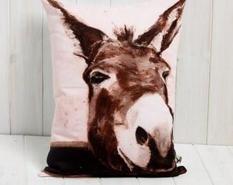 Pink Donkey Cushion