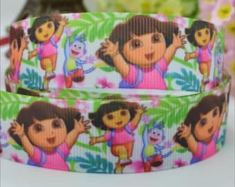 Dora the explorer 7/8 ribbon