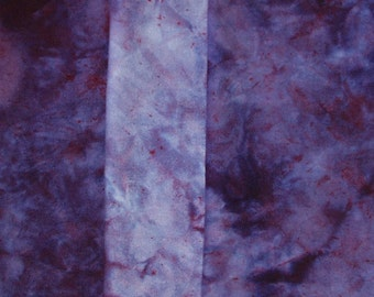 3 Fat Eights, Hand Dyed Wool Fabric,   Gradient Dyed   Purple Violet  Burgundy Blue Yardage  for Quilting, Rug Braiding Rug Hooking,