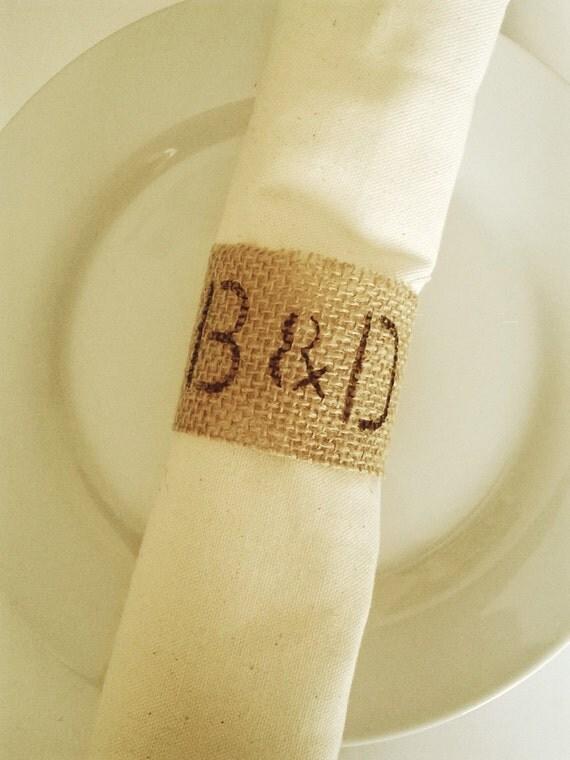 toile de jute personnalis mariage ronds de serviette ronds. Black Bedroom Furniture Sets. Home Design Ideas