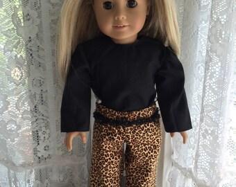 Cheetah print pants for 18 inch doll