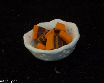 Halloween Candy in Scalloped Bowl