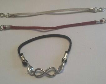 Interchangeable Suede Cord Bracelet with Petite Centerpiece
