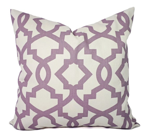 Two Purple Pillow Covers Decorative Pillow Cover Purple