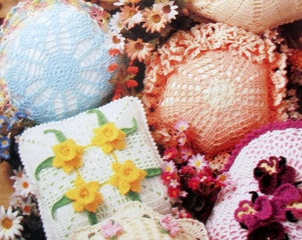 Annie's Attic Doily Pillow Patterns , Annies Attic 87P40, Beautiful Pillows to make from doilies