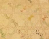 Antique 30s Patchwork Quilt Top Rag Quilt Repair Restore