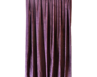 purple cotton velvet curtain panel 84 inch long theatrical sound dampening reducing noise control