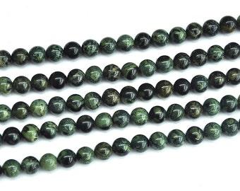 natural gemstone kambaba jasper green round beads, semi precious stone beads 10mm ,15'' full strand