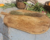 Unique Old Large Wooden Cutting Board,Long Primitive Serving Board,Wood Cutting Board