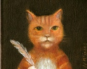"A4 Fine Art Print of an Original Animal Painting: ""Il Poeta"""