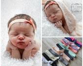 Baby Headband...Baby Knot Headband...Mini Top Knot Headband...Newborn Girl Headband...Newborn Headband...Baby Headband Knot...Headband Set
