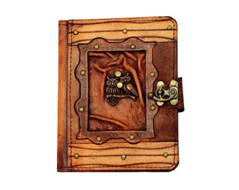 Double Owl Pendant Kindle Touch Paperwhite Voyage Kindle 4 5 Case Cover Vintage Leather Hard cover Wallet Pouch Cases Covers Lock Brown