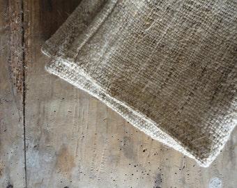 handwoven WASH GLOVE / MITTEN, handmade from handwoven hemp