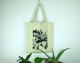 Canvas plant printed tote bag