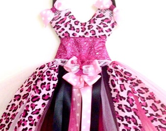 Leopard Tutu Hair Bow Holder or Wall
