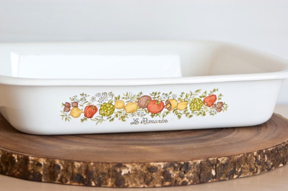 Corning Ware Spice Of Life Large Rectangular By Thewildworld