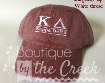 Kappa Delta Sorority Baseball Cap for Ladies - Pigment Dyed ΚΔ - Sorority Gift