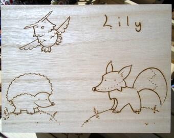 Personalised Woodland Box