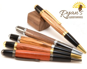 Custom Wood Gatsby Pen - Made to Order Wood Pens - Handcrafted Woodturning - Corporate Gift - Wholesale - Gift for Him