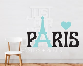 Paris Wall Decal - Living Room Wall Decal - Dining Room Wall Decal - Wall Sticker - Custom Decal Wall Graphics - 04-0002