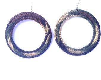 Camoflauge Hypnotic Hoop Earrings
