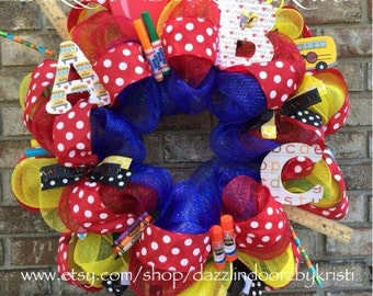 ABC Teacher Wreath